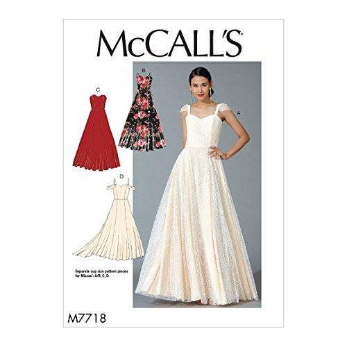 McCalls Patterns MC7718E5 mönster för damkläder, vävnad, flerfärgad, 17 x 0,5 x 0,07 cm