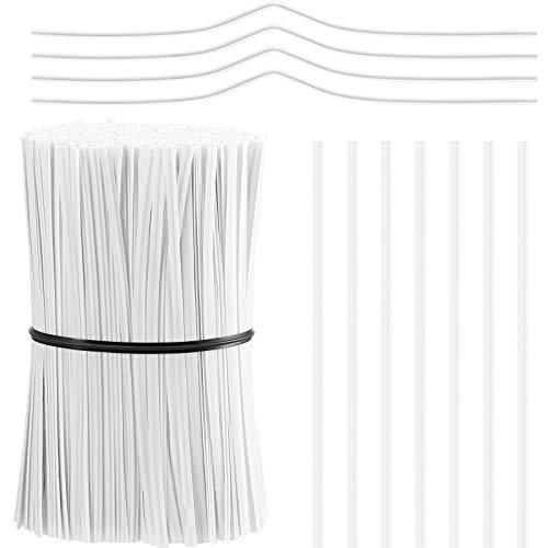 1000 Pieces Plastic Coated Twist Ties Twist Cord Wire Cable Ties Reusable Nose Bridge Strips for Party Cello Candy Bread Bags Cake Pops, 3.9 Inch Length (White)