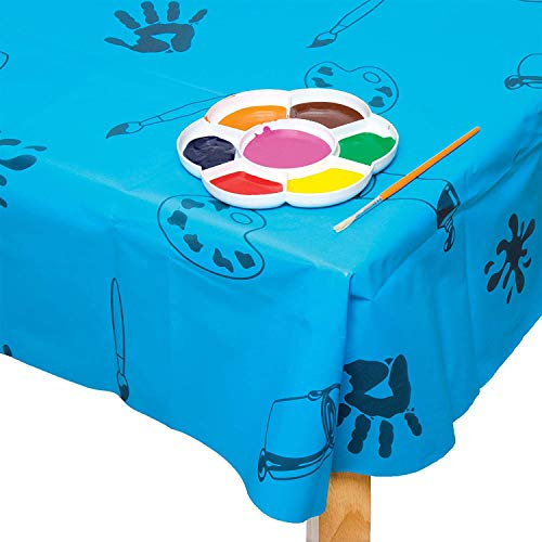 Paño de mesa de plástico azul - juego desordenado HPNK