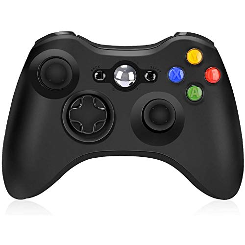 Wireless Controller for Xbox 360, Wireless Controller Remote 2.4GHz Game Controller Gamepad Joystick for Xbox/Slim 360 PC Windows 7/8/10 (Black)