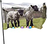 YeeATZ SBLB Happy Easter Bunny Ears Cat Themed Welcome Party Outdoor Outside Decorations Ornament Picks Home House Garden Yard Decor 3 X 5 Ft Small Flag
