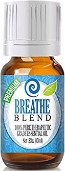 Breathe Blend Essential Oil - 100% Pure Therapeutic Grade Breathe Blend Oil - 10ml