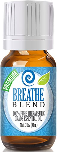 Breathe Essential Oil Blend - 100% Pure Therapeutic Grade Breathe Blend Oil - 10ml