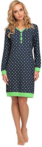 Cornette Damen Nachthemd 654 2015 (Navy, 38 (Herstellergröße: M))