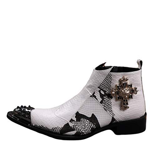 AZLLY Retro Martin herenlaarzen van gelakt leer Chelsea Boots mode ritssluiting spitse schoenen casual laarzen nachtclub laarzen handboots bruidsjurk voor kantoor business party