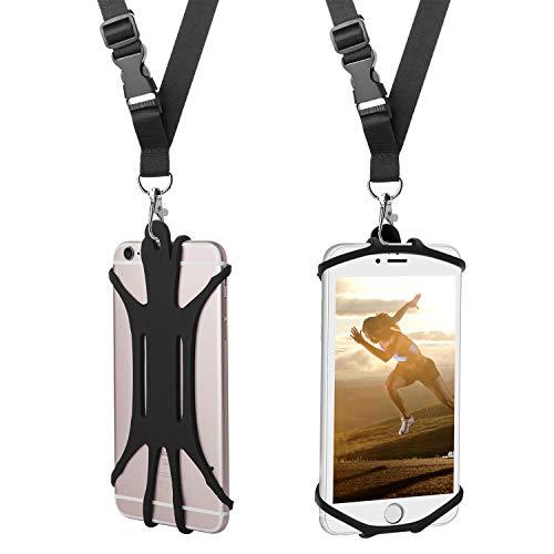 ARMRA Handy Lanyard Hülle, Universal Handy Halter Handsfree Smartphone Abdeckung mit verstellbarem Halsband kompatibel mit iPhone X 8 7 6 Galaxy S9 S8 Moto LG und More