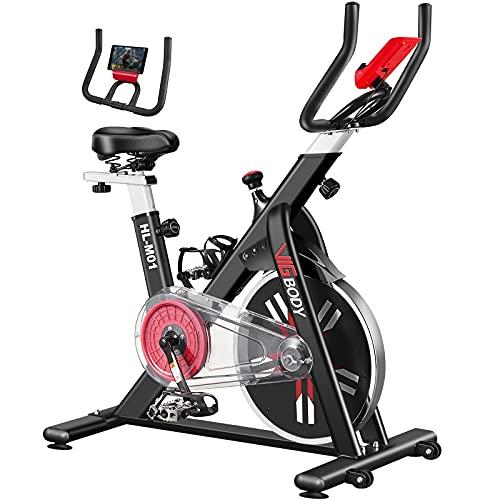 VIGBODY Exercise Bike Stationary Indoor Cycling Bike for Home Gym Workout Upright Belt Drive Bike