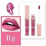 XCBCVHG Brillo de Labios Mate, Matte Liquido Brillo Labial Larga Duracion Impermeable Plumper Buxom Cosmético Make Up Lipstick Lip Gloss Maquillaje de Belleza