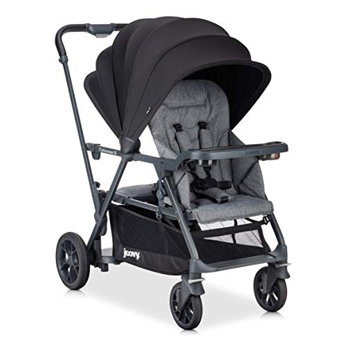 Joovy Caboose S Stroller, Stand on Tandem, Premium Sit and Stand, Grey Melange