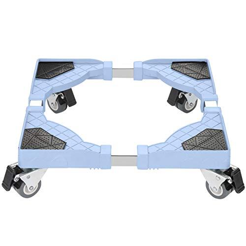 Base de Machine à Laver, Socle Lave-Linge Roulettes, Support Pour Réfrigérateur Congélateur Sèche Linge Réglable Charge 280 kg