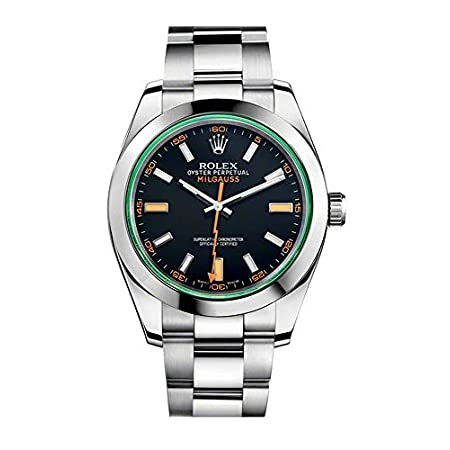 Fashion Shopping Rolex Milgauss 40 mm 116400GV Stainless Steel Black/Green Oyster