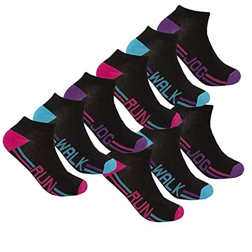 Super Soft Cotton Colourful Stylish 4-8 pairs Ladies Girls Trainer Liner Socks