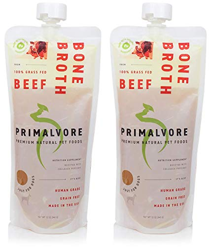 Primalvore: Organic Bone Broth for Dogs & Cats (12...