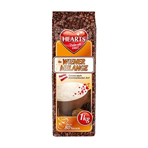 HEARTS Cappuccino Wiener Melange 1 kg - Genuss nach österreichischer Tradition, ca. 80 Portionen pro Beutel