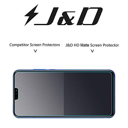 J&D Kompatibel für 8 Pack Honor 8X Displayschutzfolie, [Antireflektierend] [Nicht Ganze Deckung] Hochwertige Matte Folie Schutzschild Displayschutzfolie für Huawei Honor 8X - [Nicht für Honor 8X Max] - 5