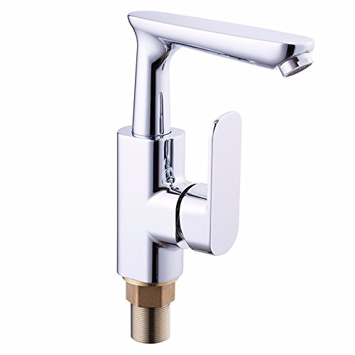Buy Bargain SUNQIAN-All copper hot and cold water faucet, kitchen hot and cold dish basin faucet, si...