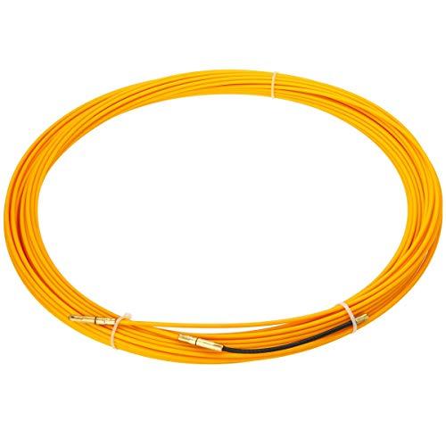 JAP768 Guía 30M 3mm Dispositivo de Empuje de Fibra de Vidrio Cable eléctrico Extractores de conductos Serpiente Rodder Cinta Cable Amarillo 2019
