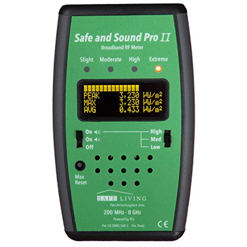 Safe and Sound PRO II RF Meter 200MHz - 8GHz - Perfect for Measuring Cell Phones, WiFi, Smart Meters, Etc.