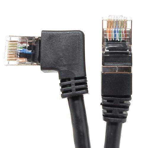 SYSTEM-S Cable RJ45 LAN acodado de 0,5 m, Color Negro.