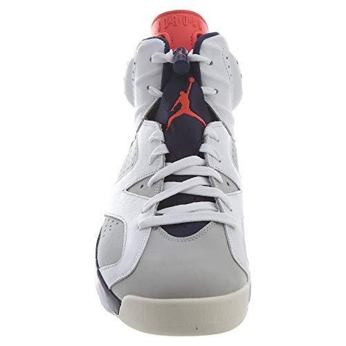 Nike Air Jordan 6 Retro, Zapatillas de Deporte Hombre, Multicolor (White/Infrared 23/Neutral Grey/White 104), 47.5 EU