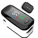 LABE Monitor de oxígeno de Fitness Recargable portátil PR y Monitor de Lectura de Ejercicio SP02 Adecuado para Actividades de montañismo y Fitness