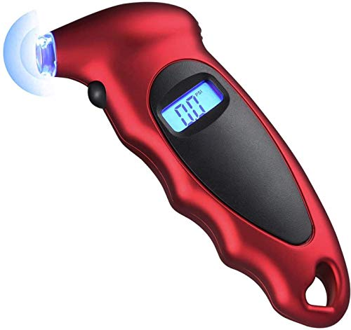 STHIRA® Digital Tyre Pressure Gauge 150 PSI 4 Settings for Car Truck Bicycle with Backlit LCD and Non-Slip Grip