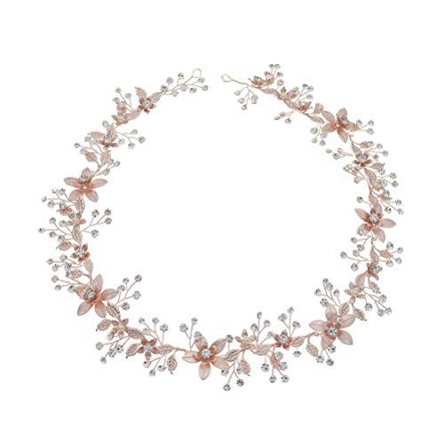 Cinto de cristal para noiva PRETYZOOM com strass para casamento, vestido de noiva com fita de cristal floral organza faixa faixa faixa de cristal floral com joias de cristal para festa de noiva formatura prata