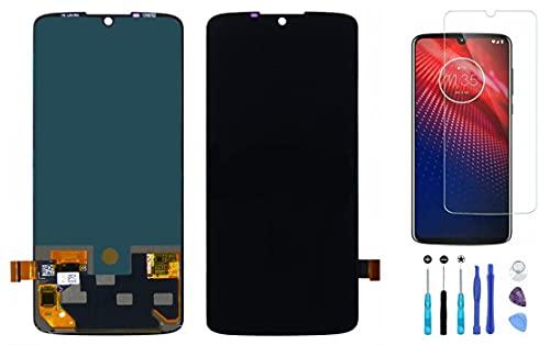 Substituição do conjunto de digitalizador sensível ao toque para Motorola Moto Z4 XT1980-3 XT1980-4 + Peça de reparo de ferramentas de vidro de tela rachado + película de vidro temperado