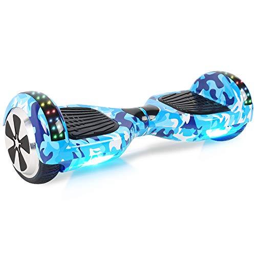 "Windgoo Hoverboard, 6.5\"" Self Balance Scooter mit Bluetooth Lautsprecher, 2 * 250W Motor, LED Lights, Elektro Scooter (Army)"