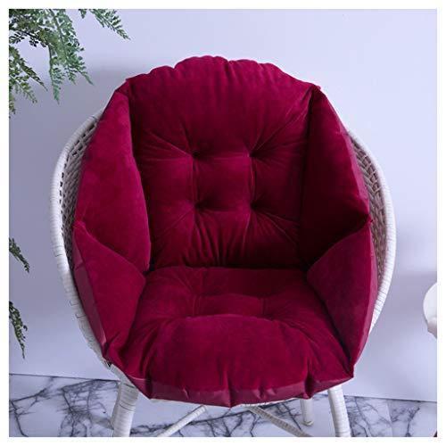 WCX Verdikt gewricht met hoge rugleuning, pluche, eetkamerstoel, kussensloop, waterdicht, schommelstoel, zitkussen voor woonkeuken