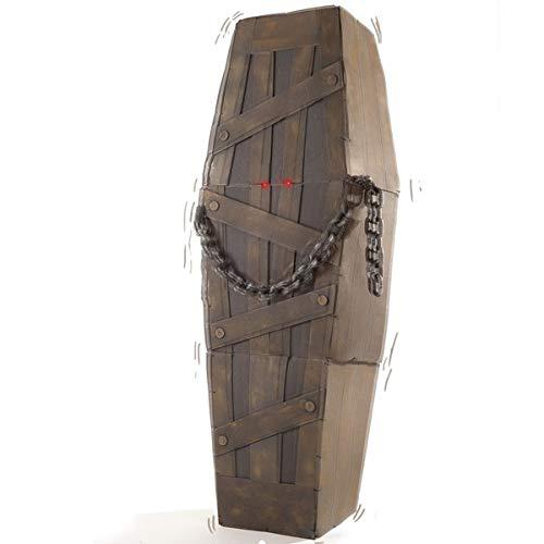Carnival Toys 08461 - ataúd, hechos de EVA, con luz, sonido y movimiento, 160 x 52 x 27 cm