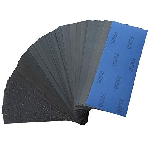 TR TOOLROCK 70-teiliges Nass- und Trocken-Schleifpapier-Set, Körnung 120 bis 3000, 228mm x 91mm Schleifpapier, feines Schleifpapier für Autoschleifen, Holzmöbel-Lackierung