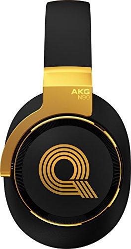 AKGN90Qヘッドホン密閉型/オーバーイヤー/ノイズキャンセリングブラック/ゴールドN90QLE【国内正規品】