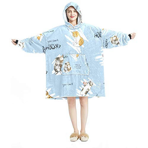 Sudadera con capucha para mujer, cómoda para el hogar, chándal relajado, cálido, adorable y adorable gatos.