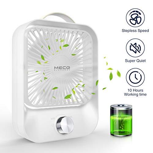 MECO ELEVERDE USB Ventilator, Mini Tischventilator mit unbegrenzter Geschwindigkeit, Fan Desktop des stillen starken Wind Ventilator USB Schreibtisch Einfach zu Tragen, Zuhause und im Freien, Weiß