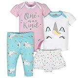Gerber Baby Girls' Toddler 4-Piece Shirt, Skirted Panty...
