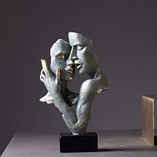 Micaza Amanti Scultura, Amorevole Abbraccio Figurine Persone in Amore Statua Romantica Coppia Figura Casa Arredamento Regali per Anniversario Coinvolgimento Matrimonio-a 19x9.5x31.5cm(7x4x12inch)