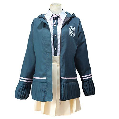 Nobranded Super Danganronpa Cosplay Chiaki Nanami Disfraz Anime Japonés Disfraz Conjunto Completo Uniforme Escolar para Fiesta, Chaqueta + Camisa + Falda + Pajarita