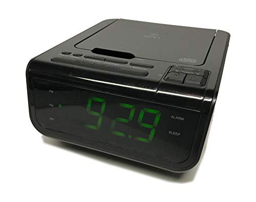 Onn ONA502 CD/AM/FM/Alarm Clock Radio with Digital Tuning Alarm with and USB Port to Charge Devices + Large 1.2 inch Green LED Display + Aux-in Jack,Top Loading CD Player - Refurbished