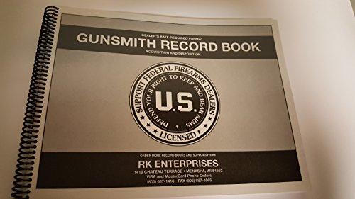 "Gunsmith Log Record Book (1000 Entry) Gunsmith Log Book / Journal / Logbook 8.5""x11"""
