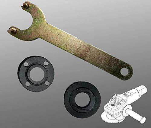 """Grinder Flange Lock Nut Wrench Kit for Dewalt Milwaukee Makita Bosch Black & Decker Ryobi 4.5"""" 5"""" 5/8-11 Spanner"""