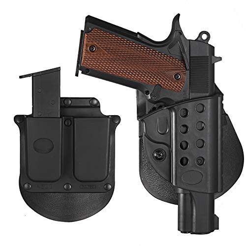 1911 Holster S&W MP 9mm/Paddle 45 OWB Holster Fits All 1911 Models,Concealed Carrying Holster, Springfield 1911 Pistol Holster with Magazine Holster-Ri
