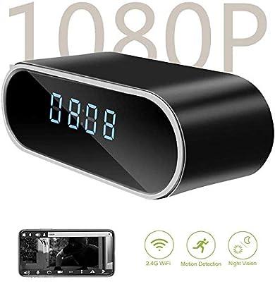 Hidden Camera Clock - DareTang HD 1080P WiFi Hidden Spy Camera Alarm Clock Nanny Cam Night Vision/Motion Detection/Loop Recording Home Surveillance Cameras