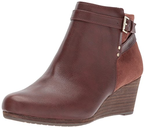 Womens Dr. Scholls Double Wedge Boots, Copper Brown, 11 W US