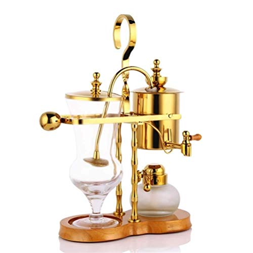 Golden Coffee Maker Machine Royal Family Balance Syphon Coffee Pot