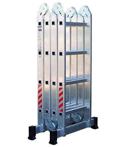 NAWA Escalera Multiusos 4x4 Máx. Carga de Capacidad 150 kg EN131. Hecho en Europa. (Multi-purpose Aluminium ladder Holds up to 150 kg Made in Europe) (4x4)