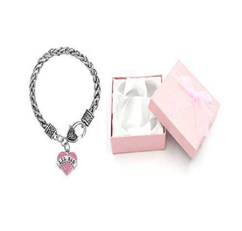 Libby's Market Place Lil Sis Little Sister Armband mit rosa Geschenkbox