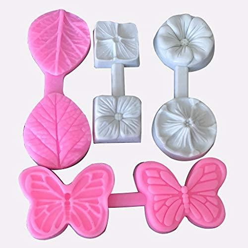 YDH Juego de 4 moldes de silicona con diseño de mariposa en 3D, para decoración de pasteles, fondant, decoración de cupcakes