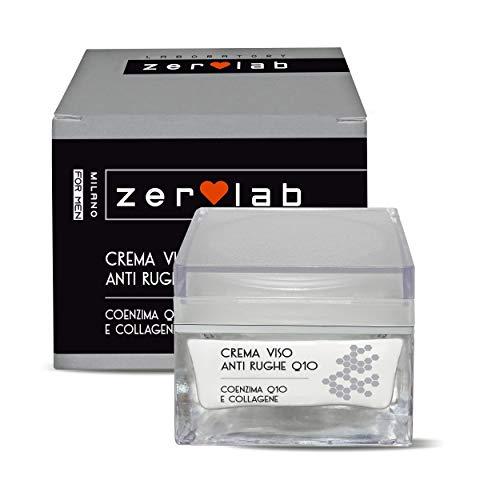 Zerolab Crema Viso Antirughe Uomo Collagene Antiage Q10 Super Strong Crema Idratante Germe Di Grano