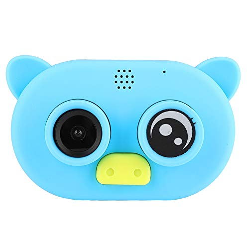 Kindercamera, 2 inch 1080P HD digitale camera, ingebouwde microfoon, cartoon speelgoedcamera, gemaakt van milieuvriendelijk, niet-giftig materiaal, eenvoudige bediening(blauw)